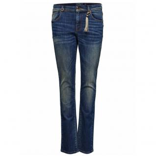 Only Damen Jeans Hose GEMMA Low Girlfriend DNM Blau Gr. 28W / 34L