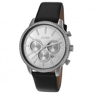 Joop JP101712001 101712 silver sparkle Uhr Damen Leder Datum schwarz