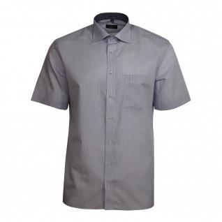Eterna Herrenhemd Kurzarm 4669/18/C767 Modern Fit Blau kariert L/42