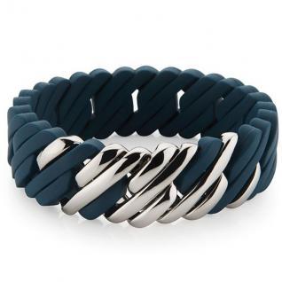 The Rubz Damen Armband PIXEL Silikon blau 19 cm