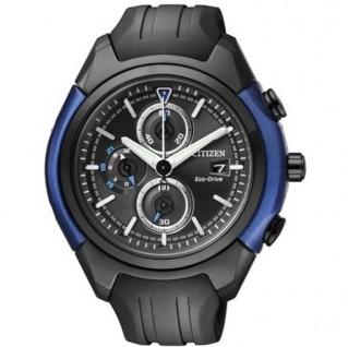 Citizen CA0288-02E Eco Drive Chronograph Uhr Chrono Datum schwarz
