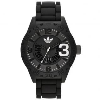 Adidas NEWBURGH Uhr Herrenuhr Kautschuk Datum schwarz