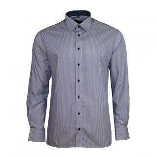 Eterna Herrenhemd Langarm Modern Fit Blau Gestreift XL/44 4036/16/X148