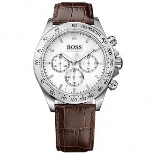 Hugo Boss Ikon Chronograph Uhr Herrenuhr Lederarmband braun