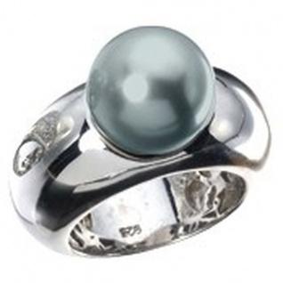 Giorgio Martello 301619530 Damen Ring Silber mit synth. Perle grau Größe 53 (17, 0 mm)