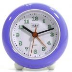 W&S 200100 Wecker Uhr blau-weiß Analog Alarm