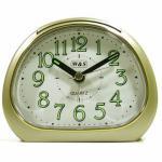 W&S 201119 Wecker Uhr champagner-weiß leise Sekunde Analog Licht Alarm
