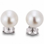 gooix 931-1165 Damen Ohrstecker 925 Sterling Silber Weiß