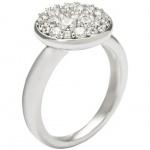 Fossil JFS00082 Damen Ring Sterling-Silber 925 Zirkonia 56 (17.8)