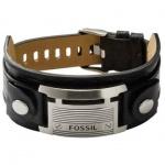 Fossil JF84816 Herren Armband Leder schwarz JF 84816