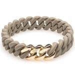 The Rubz 100474 Damen Armband Classic NANO Gold Grau 18 cm