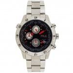 Fila 38-007-001 Chronograph Uhr Herrenuhr Chrono Datum silber