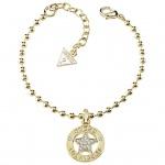 GUESS Damen Armband Stern Metall vergoldet Zirkonia weiß 19, 5 cm