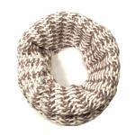Esprit Schal Structur Knit Collar Weiß Rosa Strickschal Loop 66 cm