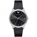 Emporio Armani AR2500 LUIGI Uhr Herrenuhr Lederarmband Datum Schwarz