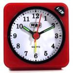 W&S 600104 Wecker Uhr rot-schwarz-weiß Analog Licht Alarm