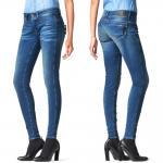 G-Star Damen Jeans Hose Midge Cody Mid Skinny Blau Gr. 28W / 34L