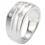 Fossil JF15789 Damen Ring JF 15789 Silber Zirkonia weiß Gr.56 (18 mm)