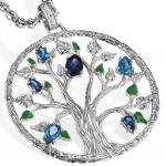 Julie Julsen JJ9212.1 Damen Anhänger Baum Element Wasser Silber blau
