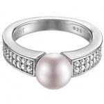 Esprit ESRG91587C Damen Ring Silber precious glam sunset mit Zirkonia weiß u. synth. Perle lavendel Größe 60 (19, 0 )