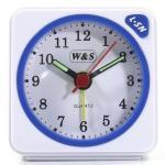 W&S 600104 Wecker Uhr weiß-blau Analog Licht Alarm
