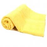 Badetuch Gelb Frottee Baumwolle 500g/m2 Handtuch 100 x 150 cm