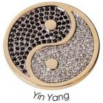 Quoins QMOA-03L-G Münze Jewelz Ying Yang large schwarz-weiß