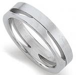 gooiX 444-2073 Damen Ring Stahl Größe 58 (18, 5mm)