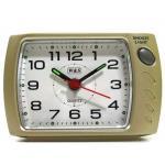 W&S 201121 Wecker Uhr champagner-weiß leise Sekunde Analog Licht Alarm