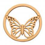 DAISY London HC1017 Münze Platte Schmetterling Butterfly Halo rosé