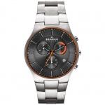 Skagen SKW6076 Aktiv Grey Colour Chronograph Herren Uhr Titan grau