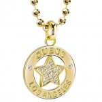 GUESS Damen Collier Stern Metall vergoldet Zirkonia weiß 45, 5 cm