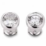 gooix 931-1154 Damen Ohrstecker Silber mit Zirkonia weiß