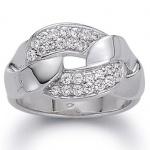 gooiX 943-3024 Damen Ring Silber mit Zirkonia weiß Größe 58 (18, 5 mm)