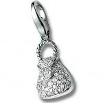 Giorgio Martello 217-805529 Charms Damen Charm Silber Tasche weiss