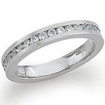 gooiX 444-2078 Damen Ring Stahl mit weißem Zirkonia Größe 58 (18, 5mm)