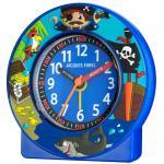 JACQUES FAREL ACN6666-G Piraten Uhr Junge Kinderwecker Alarm blau