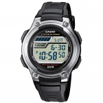 CASIO W-212H-1AVES Uhr Herrenuhr Resin Datum Alarm Digital schwarz