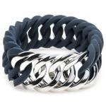 The Rubz 100180 Damen Armband Zirkel Small Silber Blau 17 cm