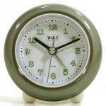 W&S 200100 Wecker Uhr grau-weiß Analog Alarm
