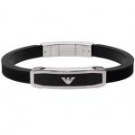 Emporio Armani EGS1543 Herren Armband EGS 1543 Stahl schwarzem Onyx