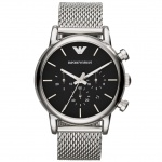 Emporio Armani AR1811 LUIGI Chronograph Uhr Herrenuhr Datum Silber