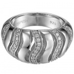 Esprit ESRG91543A Damen Ring Silber elegant trace mit Zirkonia weiß besetzt Größe 53 (17, 0 )