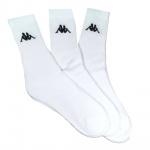 Kappa Kappa2-43-46 3 Paar Socken Weiß Baumwollsocken 43-46