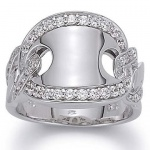 gooiX 943-3027 Damen Ring Silber mit Zirkonia weiß Größe 58 (18, 5 mm)