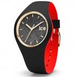 Ice-Watch 007227 Ice loulou black glitter small Uhr Damenuhr schwarz