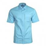 Eterna Herrenhemd Kurzarm Modern Fit Blau M/40 8504/10/C157