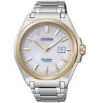 Citizen BM6935-53A Eco Drive Uhr Herrenuhr Titan Datum weiss