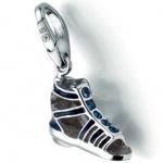 Giorgio Martello 1138-815339 Charms Damen Charm Silber Römersandale blau Glasstein blau