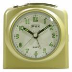 W&S 02028 Wecker Uhr champagner-weiß Analog Licht Alarm